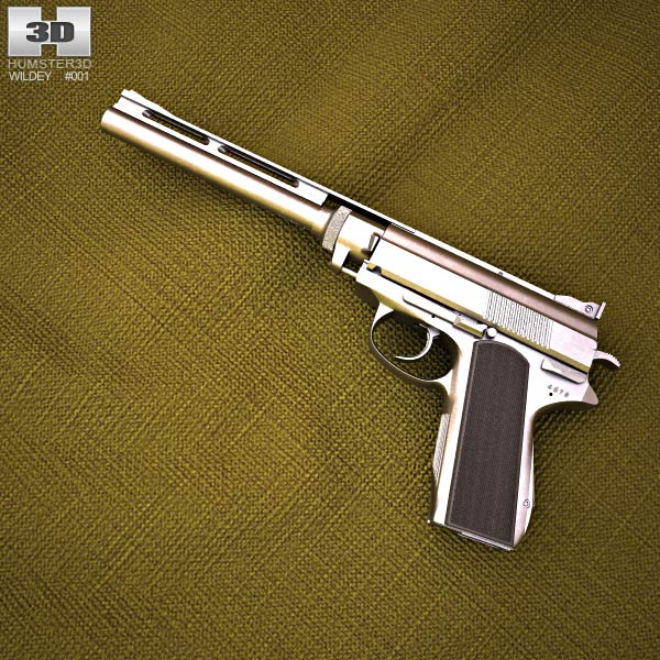 Wildey .475 Magnum 3d model