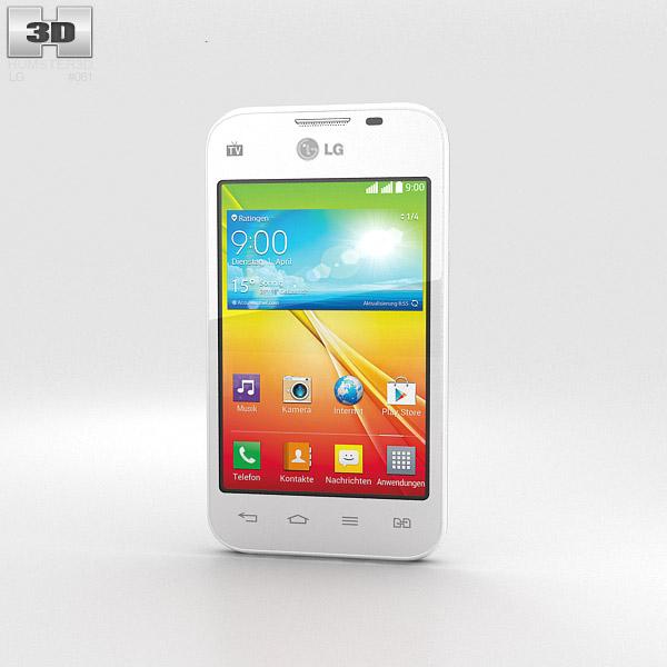 LG L35 Dual White 3d model
