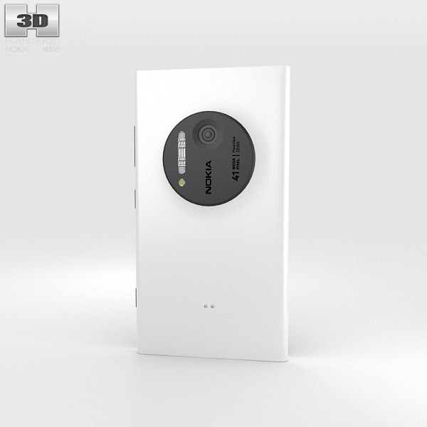 Nokia Lumia 1020 White 3d model