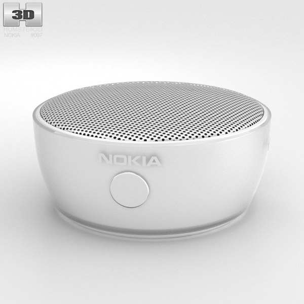 Nokia Portable Wireless Speaker MD-12 White 3d model