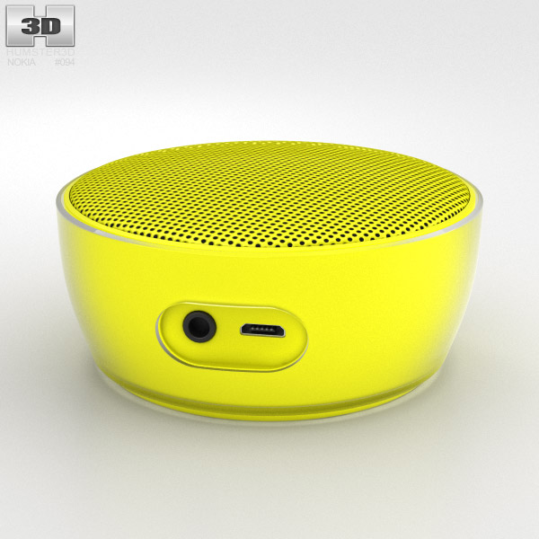 Nokia Portable Wireless Speaker MD-12 Yellow 3d model