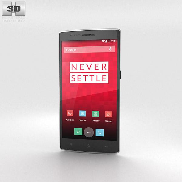 OnePlus One Silk White 3d model