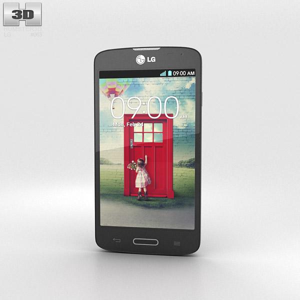 LG F70 Black 3d model