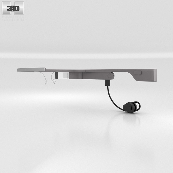 Google Glass with Mono Earbud Charcoal 3d model