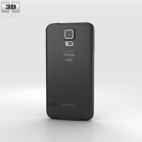 Samsung Galaxy S5 (Verizon) Charcoal Black 3d model