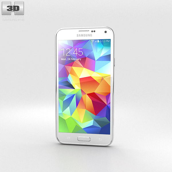 Samsung Galaxy S5 (Verizon) Shimmery White 3d model