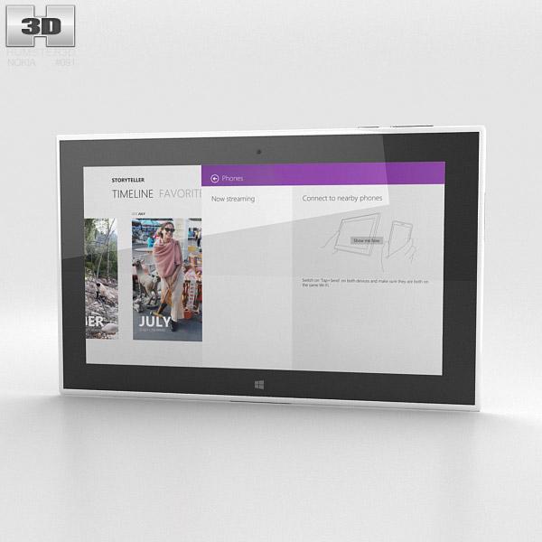 Nokia Lumia 2520 White 3d model