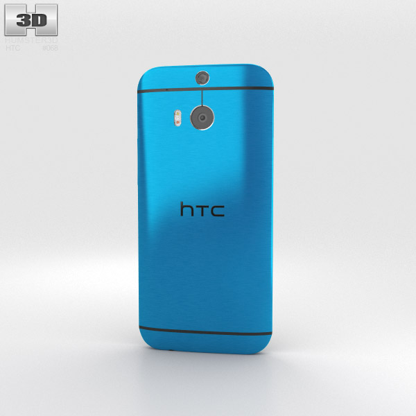 HTC One (M8) Aqua Blue 3d model