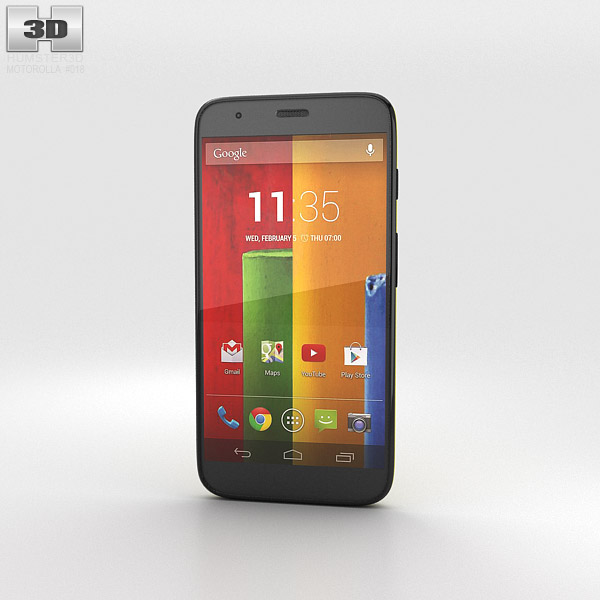 Motorola Moto G Lemon Lime 3d model