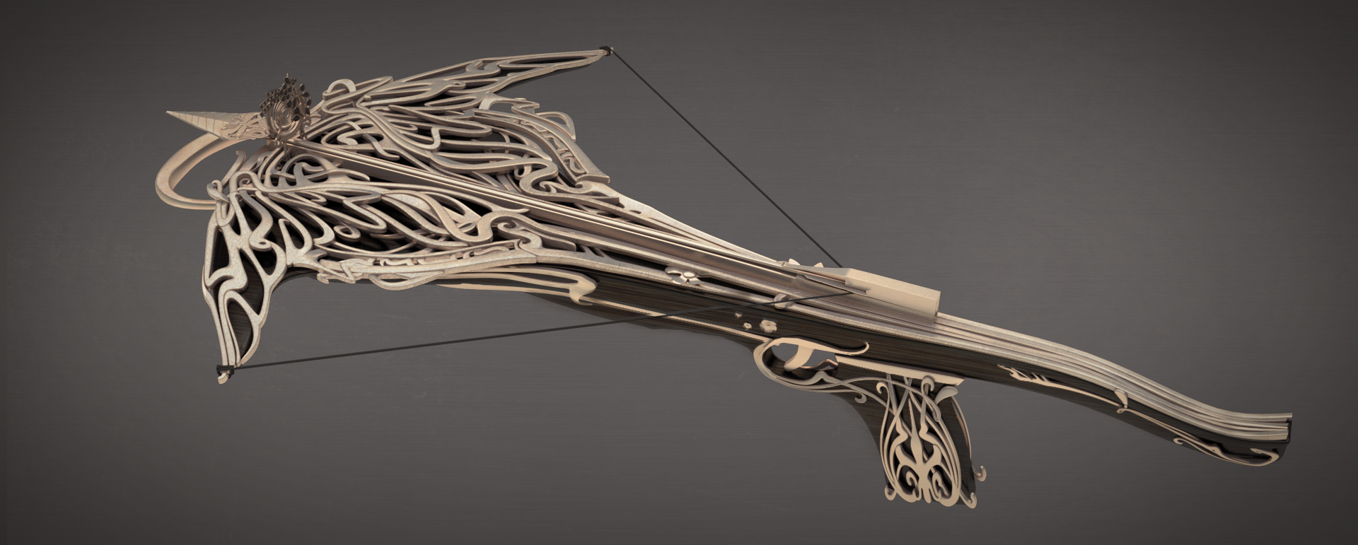 Art Nouveau Crossbow