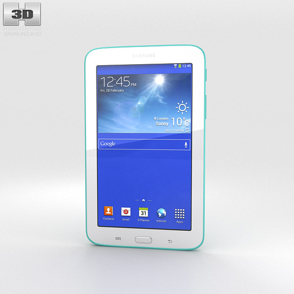 Samsung Galaxy Tab 3 Lite Green 3d model