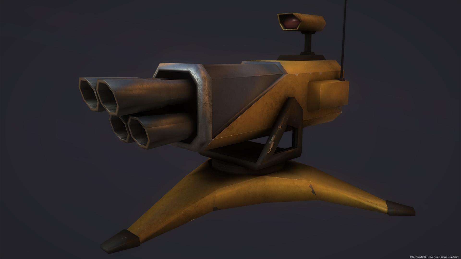 Sci Fi Turret 3d art