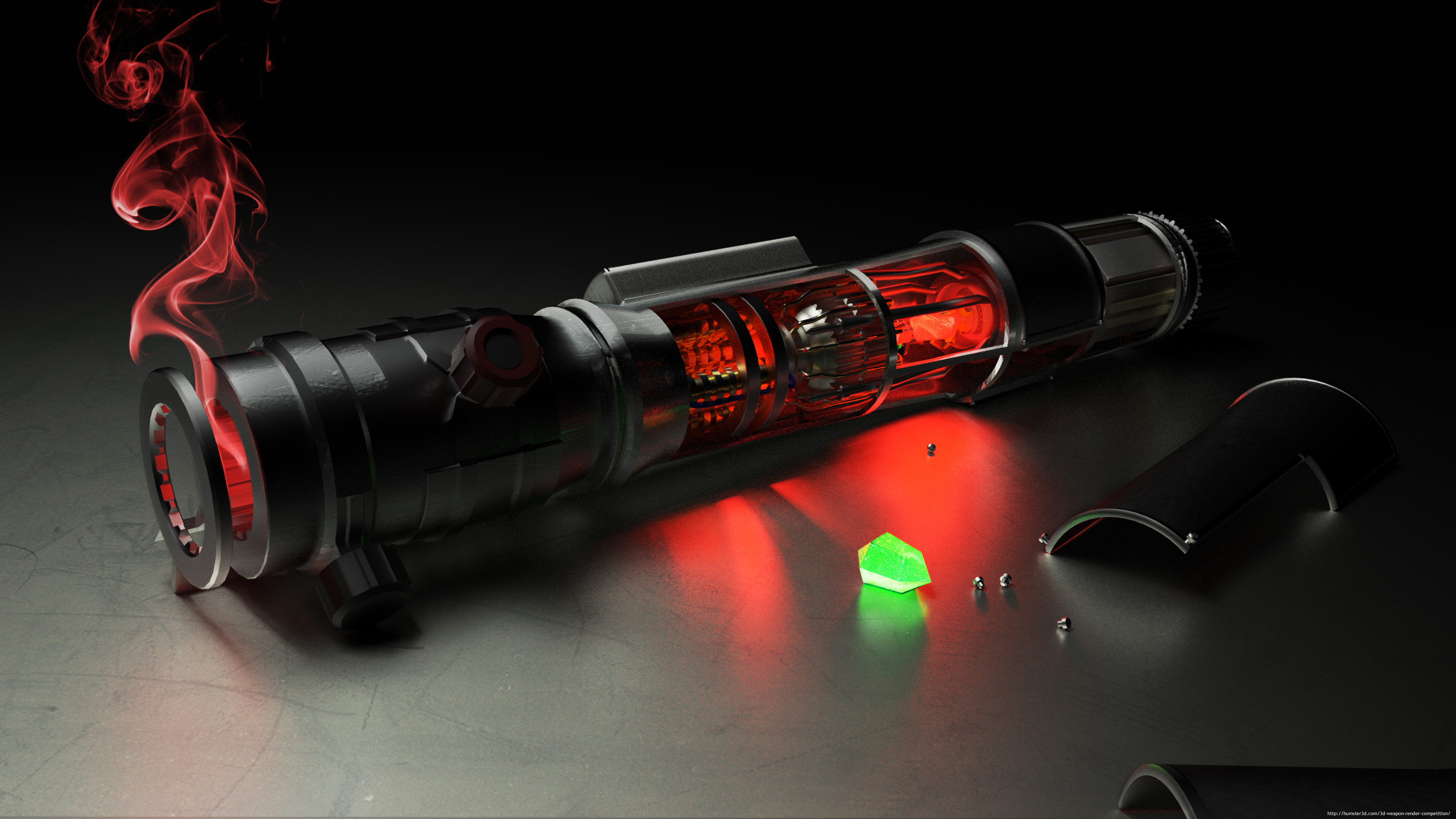 Lightsaber (change your crystal) 3d art