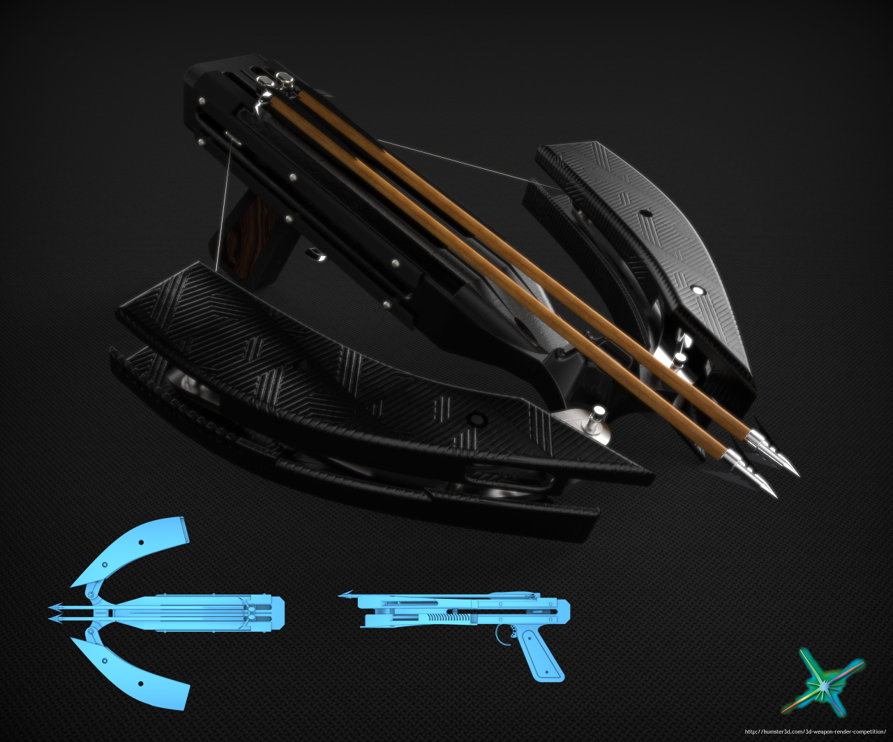 Handheld crossbow 3d art