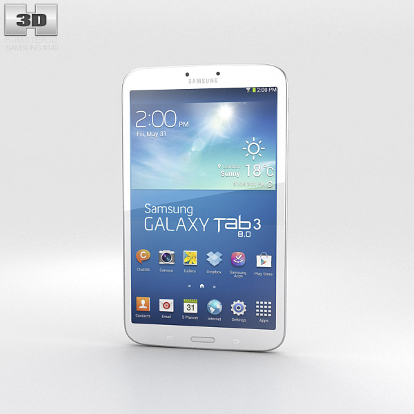 Samsung Galaxy Tab 3 8-inch White 3d model