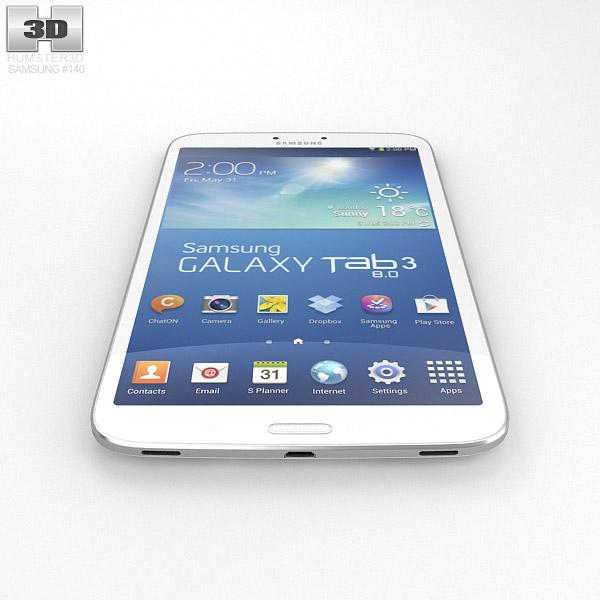 Samsung Galaxy Tab 3 8 Inch White 3D Model