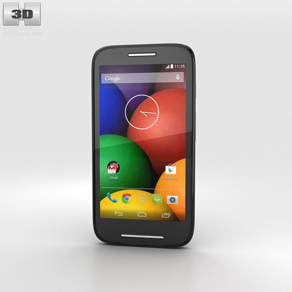 Motorola Moto E Black 3d model