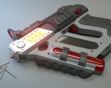 Self-Defense Electromagnetic Nailgun