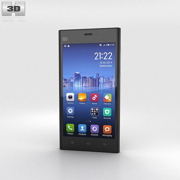 Xiaomi MI-3 Black 3d model