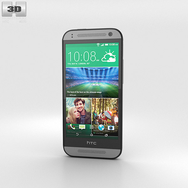 HTC One Mini 2 Gunmetal Gray 3d model
