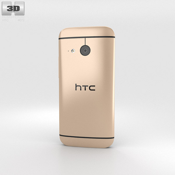 HTC One Mini 2 Amber Gold 3d model