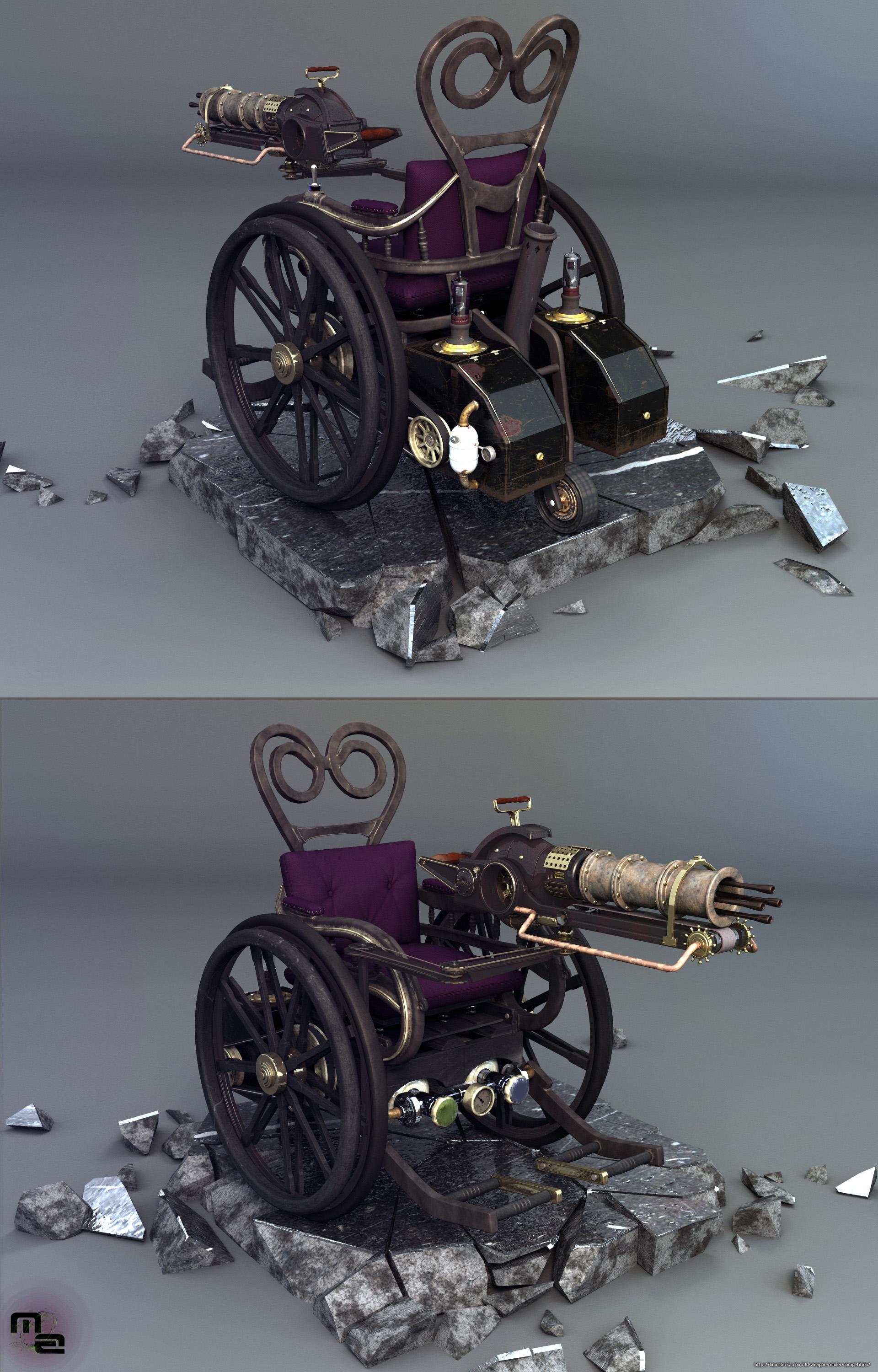 Steampunk machine 3d art