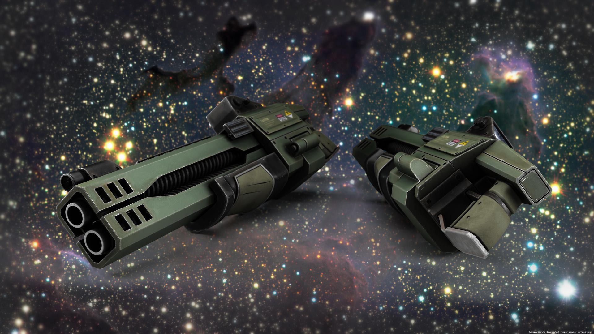 Bruce Gun 3d art