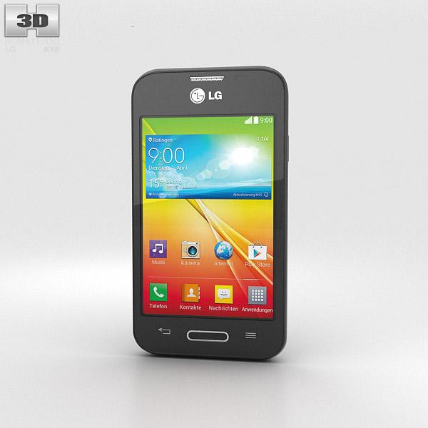 LG L35 Black 3d model