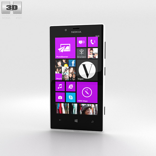 Nokia Lumia 720 White 3d model