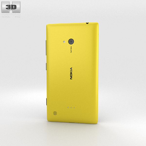 Nokia Lumia 720 Yellow 3d model