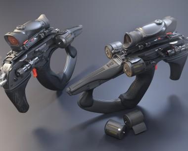 Twin Tri-Shot Hornet Pistols