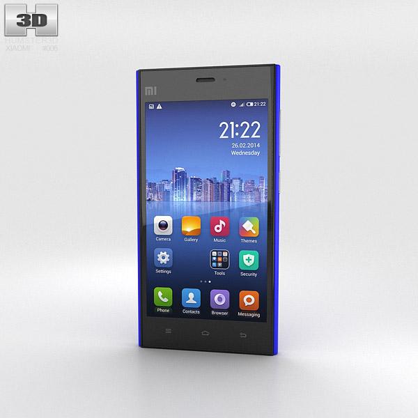 Xiaomi MI-3 Blue 3d model