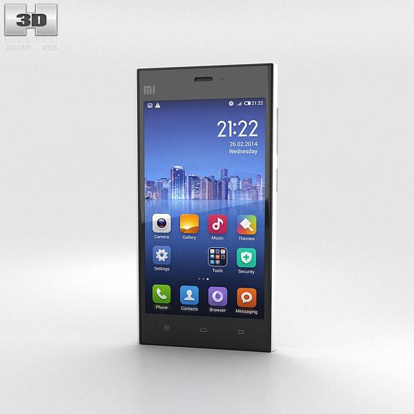 Xiaomi MI-3 White 3d model