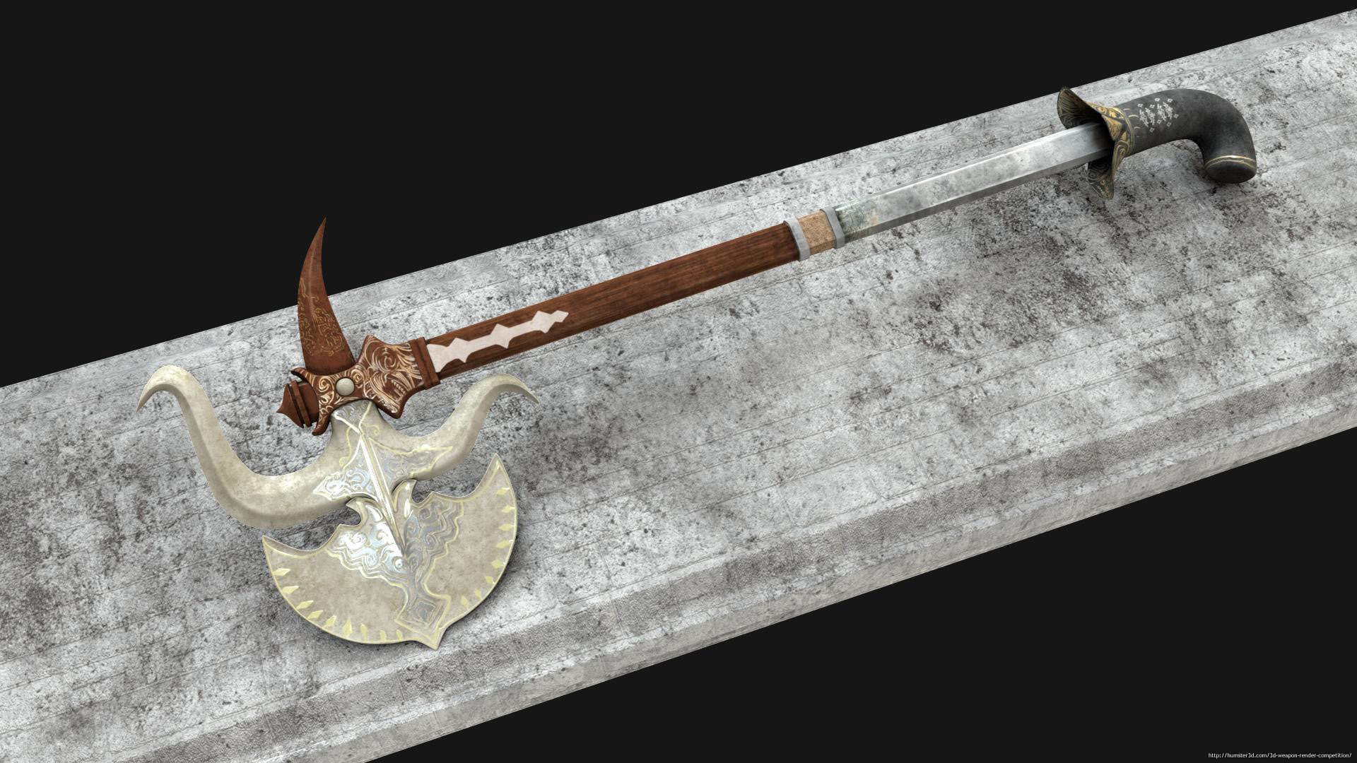 Battle Axe 3d art