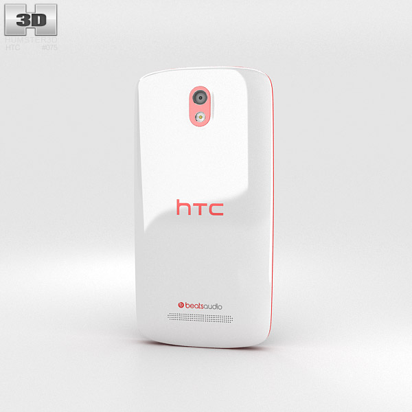 HTC Desire 500 Passion Red 3d model
