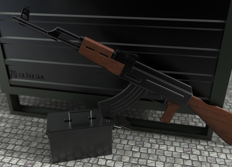 Kalashnikov by Lars Urfer 3d art