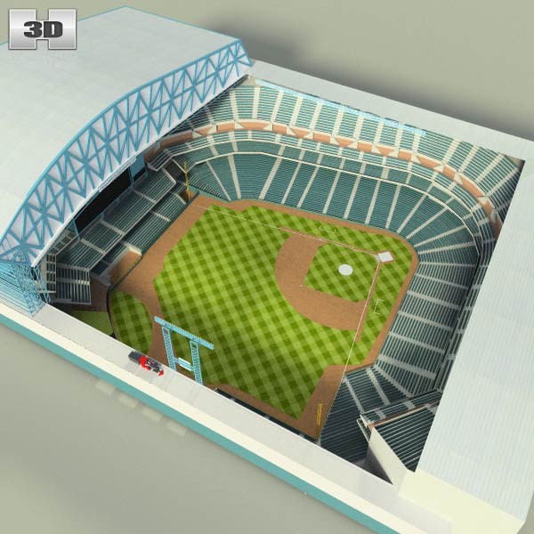 Houston Astros Minute Maid Park Baseball Stadium 3d model