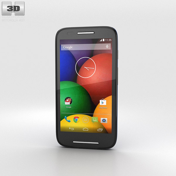 Motorola Moto E Royal Blue & Black 3d model