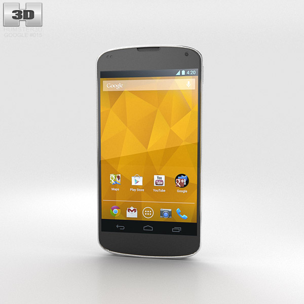 Google Nexus 4 White 3d model