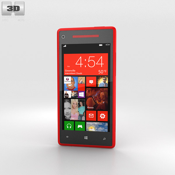 HTC Windows Phone 8X Flame Red 3d model