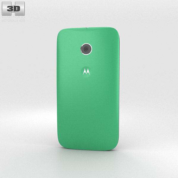 Motorola Moto E Spearmint & Black 3d model