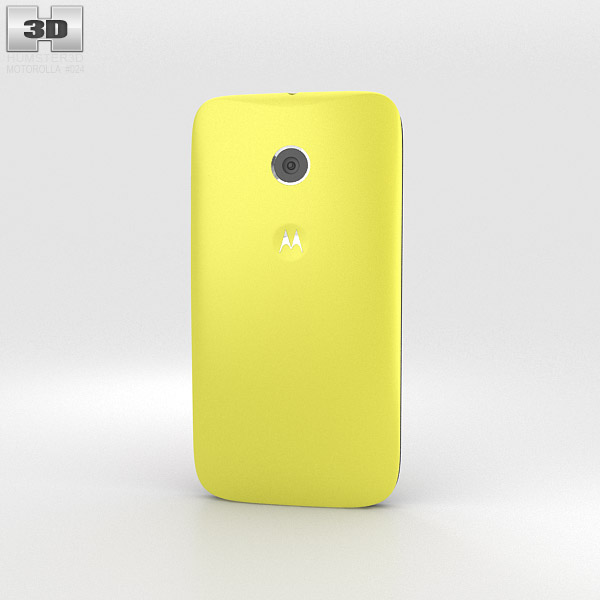 Motorola Moto E Lemon Lime & Black 3d model