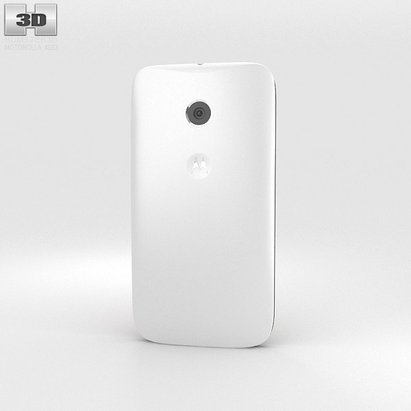 Motorola Moto E White & Black 3d model