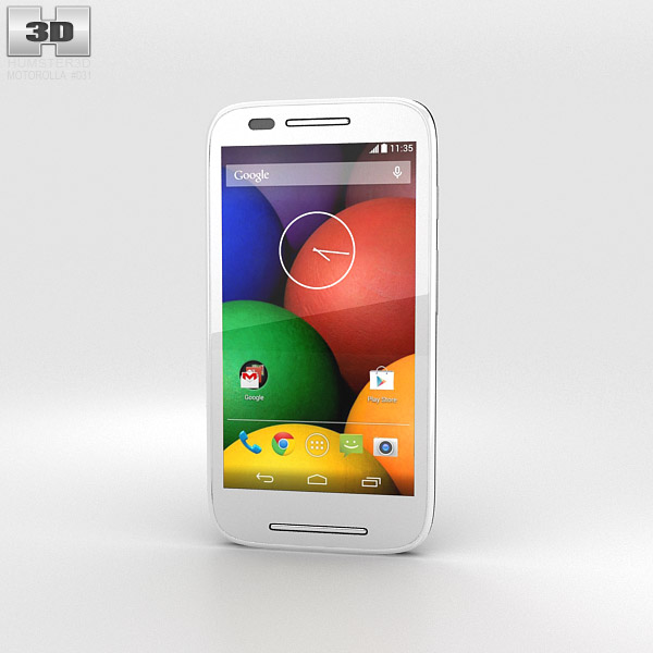 Motorola Moto E Black & White 3d model
