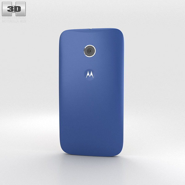 Motorola Moto E Royal Blue & White 3d model