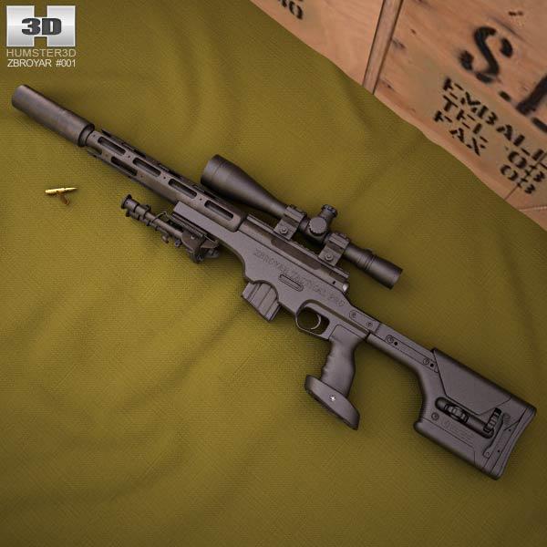 Zbroyar .458 SOCOM 3d model