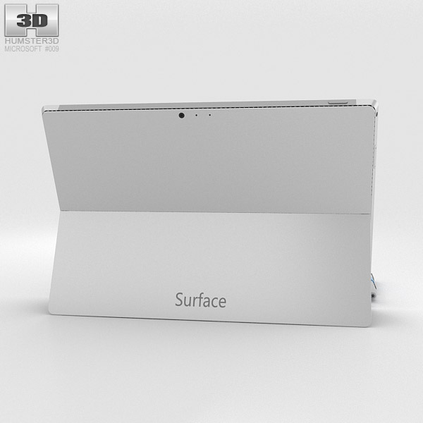 Microsoft Surface Pro 3 Cyan Cover 3d model