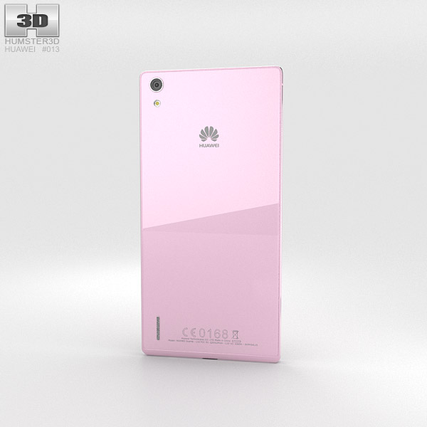 Huawei Ascend P7 Pink 3d model