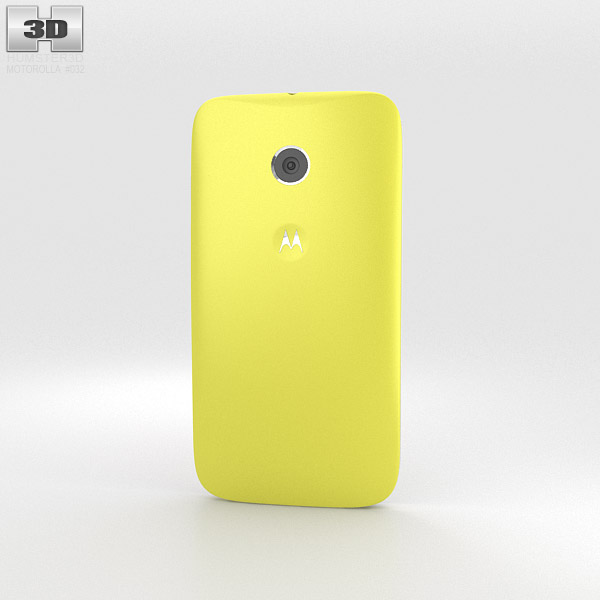 Motorola Moto E Lemon Lime & White 3d model