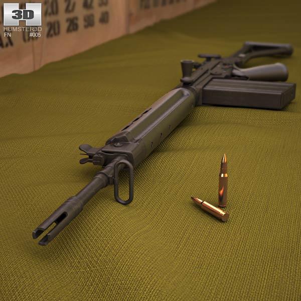 FN FAL 50.64 3d model